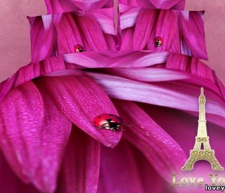 Постельное бельё ТМ Love You Лепестки FS613 евро-размер