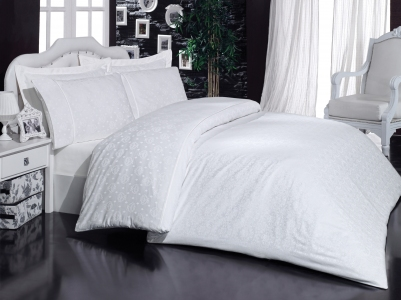 Постельное белье Mariposa De Luxe Tencel бамбук жаккард евро-размер Ottoman white v1