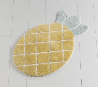 Коврик прорезиненный для ванной ТМ Chilai Home Pineapple Yellow 60х100