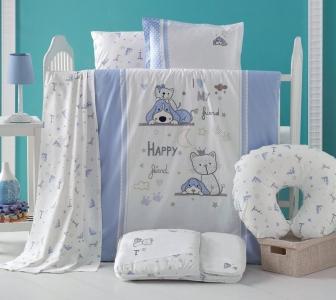 Детский постельный комплект с вышивкой ТМ Luoca Patisca Happy