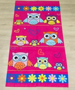 Полотенце велюровое пляжное Турция Owl 75х150