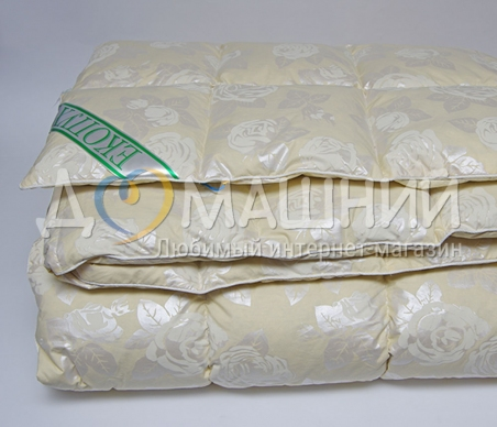 Одеяло пуховое ТМ Экопух 50/50 бежевое
