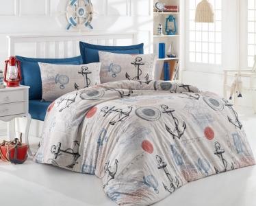 Подростковое постельное бельё ТМ Eponj Home ранфорс Ahoy Bej