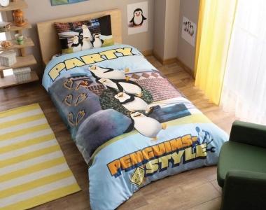 Подростковый постельный комплект ТМ TAС Penguins Party