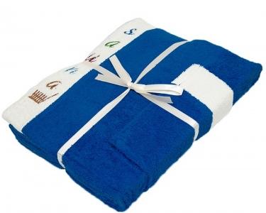 Набор ТМ Gursan для сауны мужской 3-х предметный синий