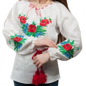 Женская вышиванка Волошка 1011.1