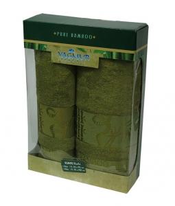 Набор полотенец из 2 штук ТМ Gursan Bamboo green