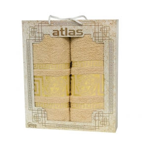 Набор хлопковых полотенец Atlas Medusa бежевый 2 шт