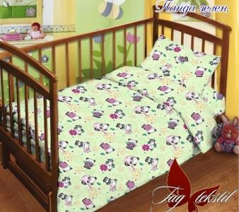 Детский постельный комплект ТМ TAG Панда зеленый