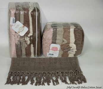 Набор полотенец из 6 штук ТМ Sikel Sacakli Delux Cotton Sezar