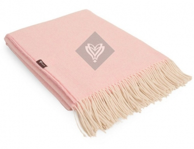 Плед шерстяной ТМ Идея Wool Alice розовый 140х200