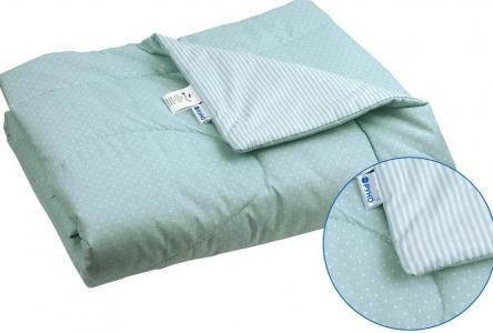 Одеяло детское хлопковое стеганое ТМ Руно голубое