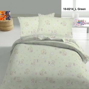 Детский постельный комплект ТМ Nostra бязь Gold 10-0214 Light Green