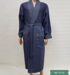 Халат вафельный бамбуковый ТМ Nusa серый мужской (NS 15120)