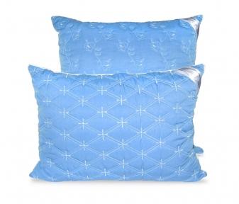 Подушка ТМ Leleka-Textile Эконом стеганный чехол синяя