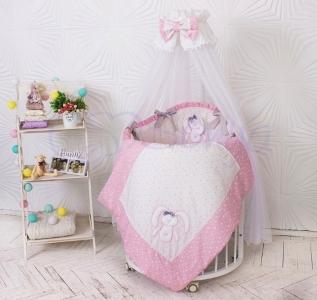 Детский набор из 7 предметов ТМ Маленькая Соня Lucky star розовый