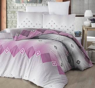 Постельное белье ТМ LightHouse ранфорс Adriana евро-размер