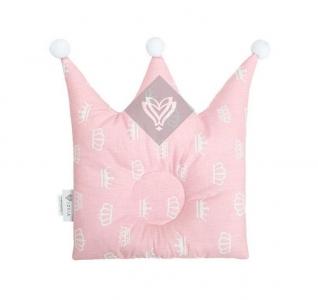 Подушка детская ТМ Идея Корона розовая 32х32