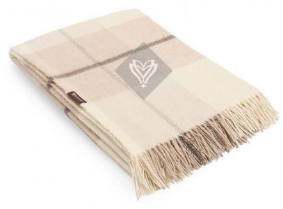 Плед шерстяной ТМ Идея Wool Toscana бежевый 140х200