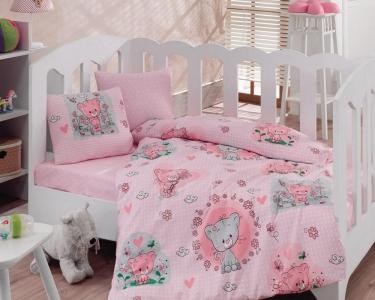 Детский постельный комплект ТМ Cotton Box ранфорс Mini Pembe