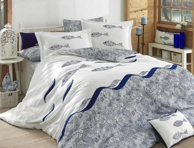Постельное белье ТМ Hobby Poplin Belen голубое