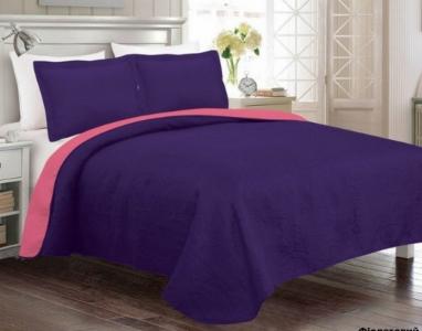 Покрывало с наволочками ТМ Arya Rainbow фиолетовый