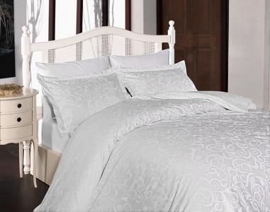 Постельное белье ТМ First Choice сатин-люкс Sweta Beyaz евро-размер