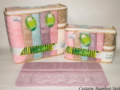 Набор полотенец из 6 штук Cestepe maxisoft Bamboo Sesi