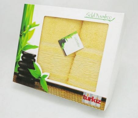 Набор полотенец Turkiz Bamboo жёлтое