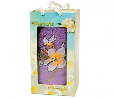Набор хлопковых полотенец Turkiz Plumeria фиолетовый 50х90см