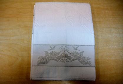 Полотенце ТМ Hanibaba Bamboo крыжма Ангелы серебро