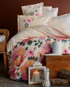 Постельное бельё ТМ Karaca Home ранфорс Flame Pink евро-размер