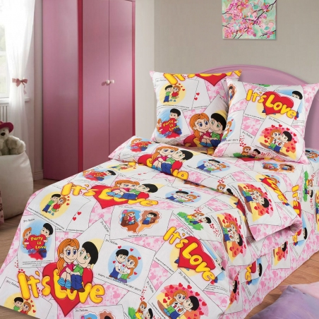 Подростковый постельный комплект ТМ ТOP Dreams It's Love