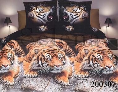 Постельное белье ТМ Selena ранфорс Тигры 200307