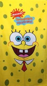 Полотенце велюровое пляжное Турция Sponge Bob 75х150 см