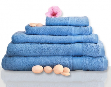 Полотенце махровое ТМ Novita гладкокрашенное french blue