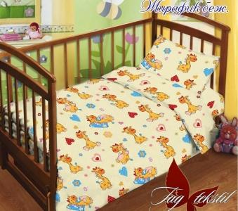 Детский постельный комплект ТМ TAG Жирафик бежевый