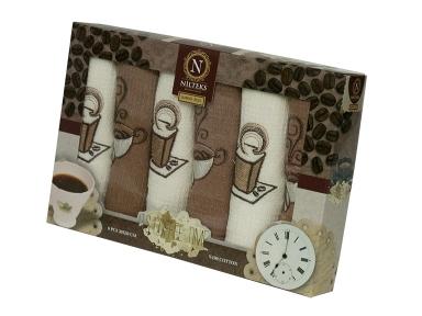 Набор полотенец кухонных ТМ Nilteks Coffee Time 4 6шт 30х50см