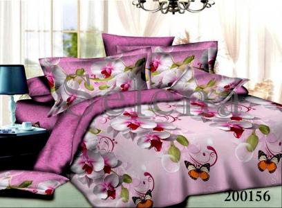 Постельное белье ТМ Selena ранфорс Орхидея Бабочки 200156