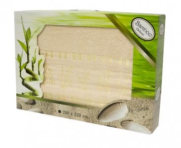 Простынь бамбуковая ТМ Gursan beige 200х220