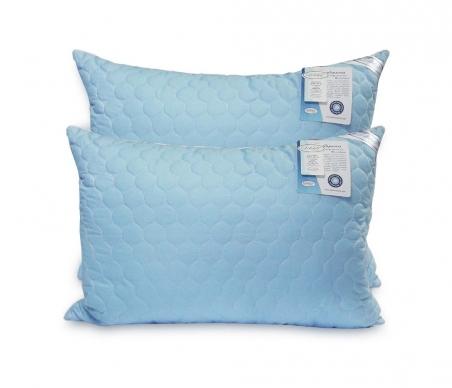 Подушка ТМ Leleka-Textile Экстра стёганная синего цвета