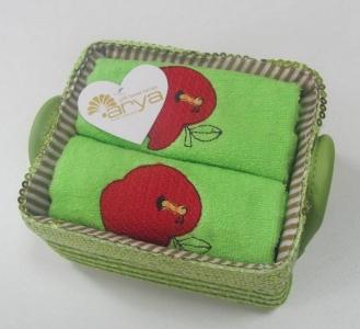 Набор полотенец кухонных 2шт ТМ Arya Aple зеленый 40х60