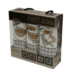 Набор полотенец кухонных ТМ Nilteks Caffe Roma 4 3шт 35х50см