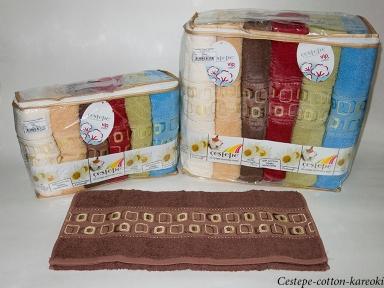 Набор полотенец из 6 штук Cestepe VIP Cotton Kareoki