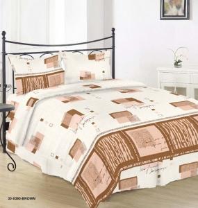Постельное бельё ТМ Руно 0390 Brown евро-размер