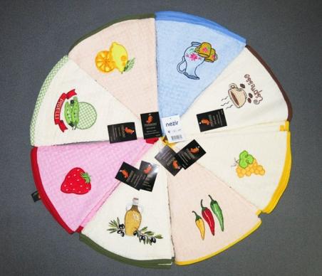 Полотенце кухонное круглое ТМ Mariposa Exclusive 70х70