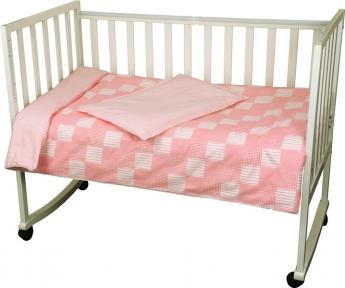 Детский постельный комплект ТМ Руно Клетка розовый