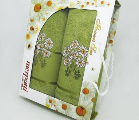 Набор полотенец из хлопка ТМ Gulcan Merpatti зелёный