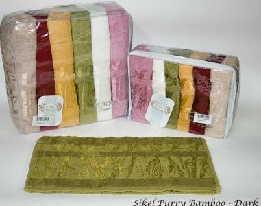 Набор полотенец из 6 штук ТМ Sikel Purry Bamboo Dark