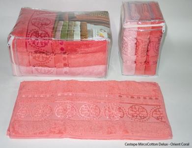 Набор полотенец из 6 штук ТМ Cestepe MicroCotton Delux Orient Coral